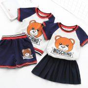 ชุดเซ็ทเสื้อกางเกง-ลายหมี-moschino